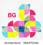 colorful circle elements.... | Shutterstock .eps vector #586391066