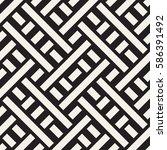 interlacing lines maze lattice. ... | Shutterstock .eps vector #586391492