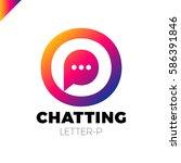 o and p letter logo  speech... | Shutterstock .eps vector #586391846