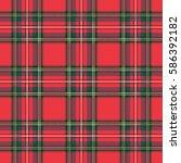 Seamless Pattern  Tartan Cloth. ...