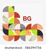 colorful circle elements.... | Shutterstock .eps vector #586394756