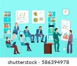 statistics analytics business... | Shutterstock .eps vector #586394978
