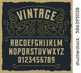 vintage decorative font  ...   Shutterstock .eps vector #586395038