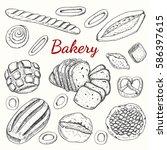 hand drawn vintage vector...   Shutterstock .eps vector #586397615