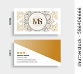 luxury business cards. vintage... | Shutterstock .eps vector #586406666