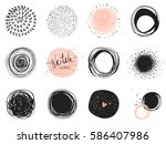 abstract circle clip art... | Shutterstock .eps vector #586407986