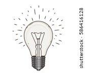 light bulb. doodle hand drawn... | Shutterstock .eps vector #586416128