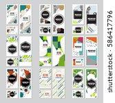 memphis background style design ... | Shutterstock .eps vector #586417796