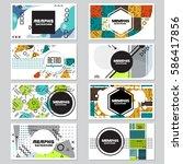 memphis background style design ... | Shutterstock .eps vector #586417856