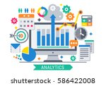 flat design modern vector... | Shutterstock .eps vector #586422008