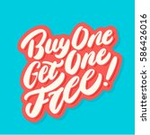 buy one get one free  | Shutterstock .eps vector #586426016