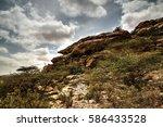 cave paintings laas geel rock... | Shutterstock . vector #586433528