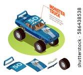 Monster Truck Model 4wd Four...