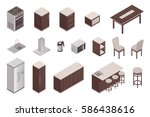 isolated isometric elements of... | Shutterstock .eps vector #586438616