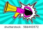 sexy open female mouth and... | Shutterstock .eps vector #586443572