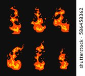 set of fire vector motion... | Shutterstock .eps vector #586458362