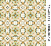 seamless floral pattern in... | Shutterstock .eps vector #586459412