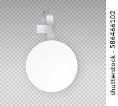 wobbler mock up. vector... | Shutterstock .eps vector #586466102