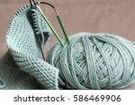 wool ball with circular...   Shutterstock . vector #586469906
