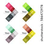vector color stripes... | Shutterstock .eps vector #586472978