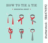 instructions on how to tie a... | Shutterstock .eps vector #586474592