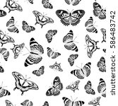 vector seamless pattern of... | Shutterstock .eps vector #586483742