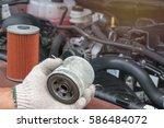 oil filter | Shutterstock . vector #586484072