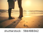 imagine couple hugging and... | Shutterstock . vector #586488362