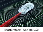 self driving electronic... | Shutterstock . vector #586488962