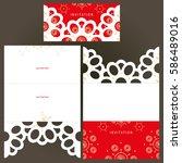 laser cutting template of...   Shutterstock .eps vector #586489016