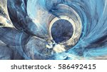abstract bright painting motion ... | Shutterstock . vector #586492415