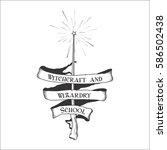 vintage retro fantasy magic...   Shutterstock .eps vector #586502438