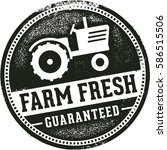 farm fresh vintage market sign | Shutterstock .eps vector #586515506