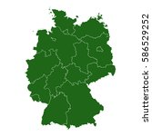 germany green map | Shutterstock .eps vector #586529252