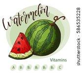 vector fruit element of... | Shutterstock .eps vector #586535228