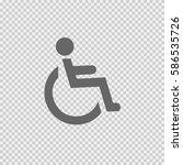 wheelchair vector icon eps 10.... | Shutterstock .eps vector #586535726
