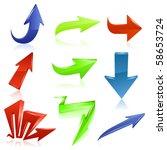arrow icon set 6. vector | Shutterstock .eps vector #58653724