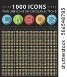 set of 1000 elegant universal... | Shutterstock .eps vector #586548785