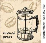 vector illustration of french... | Shutterstock .eps vector #586557752