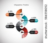 infographic design template and ... | Shutterstock .eps vector #586558052