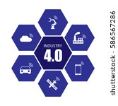 industry 4.0 and internet of... | Shutterstock .eps vector #586567286