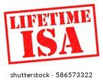 lifetime isa red rubber stamp... | Shutterstock . vector #586573322