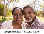 outdoor head and shoulders... | Shutterstock . vector #586587575