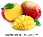 mango fruits with mango slice... | Shutterstock . vector #58659079