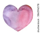 watercolor blurry hearts in... | Shutterstock . vector #586596578