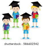 vector collection of cute and... | Shutterstock .eps vector #586602542