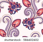 seamless pattern with pink and... | Shutterstock .eps vector #586602602