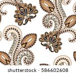 seamless pattern with beige and ... | Shutterstock .eps vector #586602608