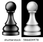 chess piece pawn  two versions  ... | Shutterstock .eps vector #586604978