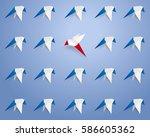 different concept   flock of... | Shutterstock .eps vector #586605362